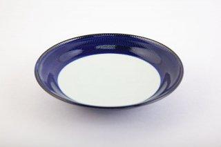 藍濃とび鉋 和皿