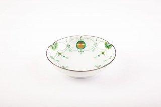 錦瓔珞文 小皿(緑)