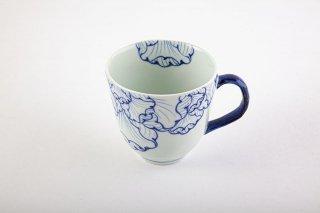 花弁紋 マグカップ(青)