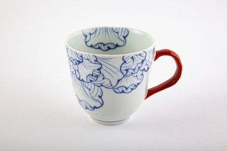 花弁紋 マグカップ(赤)