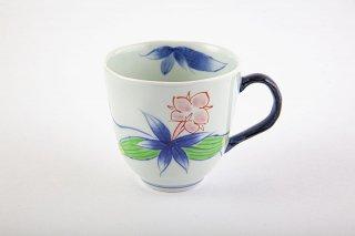 染錦りんどう マグカップ(青)