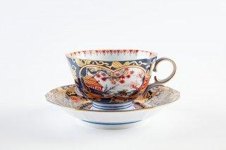 琳派古伊万里様式 紅茶碗皿