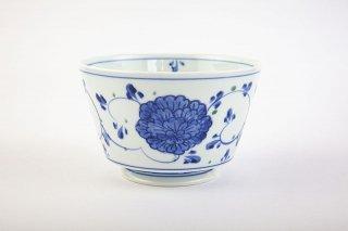 染錦花唐草 麺鉢