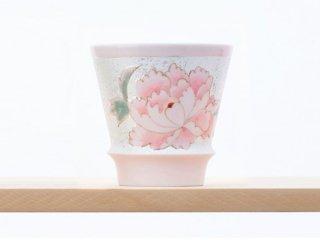 匠の蔵 至高の焼酎グラス 【賞美堂オリジナル柄 雅(ピンク)】