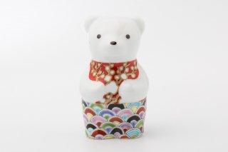 momoco bear 【初梅青海波】