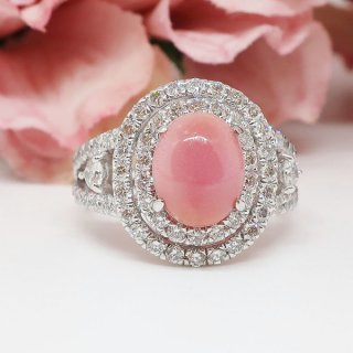 稀少な真珠・コンクパールのリング Pt900