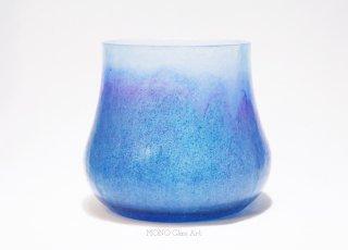 ガラスの水指-夏潮-(塗蓋付・桐箱入)|【オリジナル・一点もの | パートドヴェール茶器】