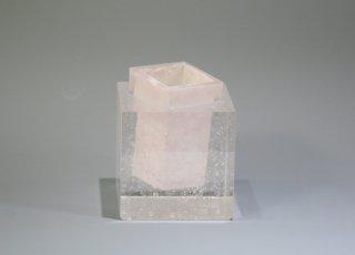 花器 CUBE ピンク