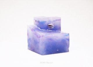 Cube Island 1 | パートドヴェールガラスオブジェ | ペーパーウェイト 【オリジナル・一点もの】