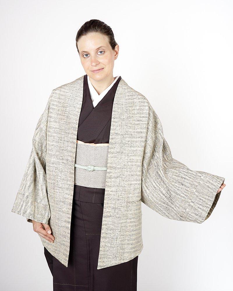 ハオル リバーシブルコート 手織り絣糸【Shuji Yamamoto】