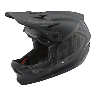 Troy Lee Designs [D3 Fiberlite Helmet]MONO Black Lサイズ