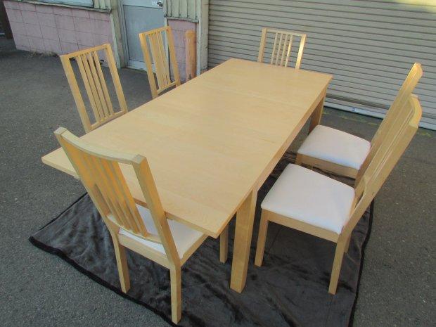 IKEA ダイニングテーブル イス メープル(木目調)