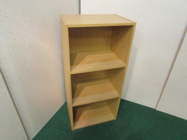 3段ボックス メープル(木目調)