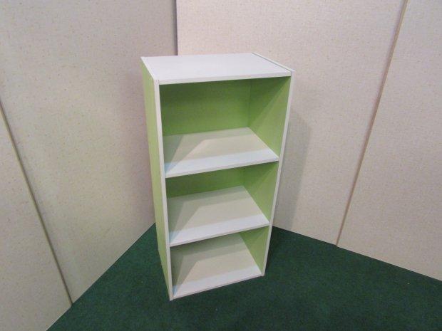 3段ボックス グリーン ホワイト