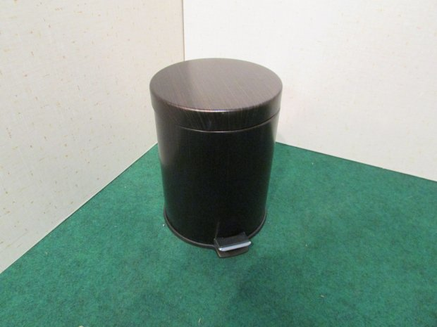ゴミ箱 ペダル式 ブラウン(木目調)