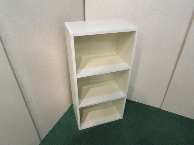 カラーボックス 3段収納 ホワイト