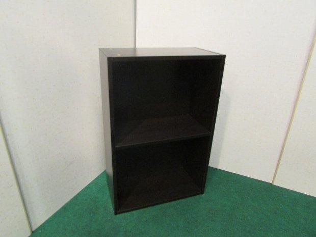 カラーボックス 2段収納 ブラウン(木目調)