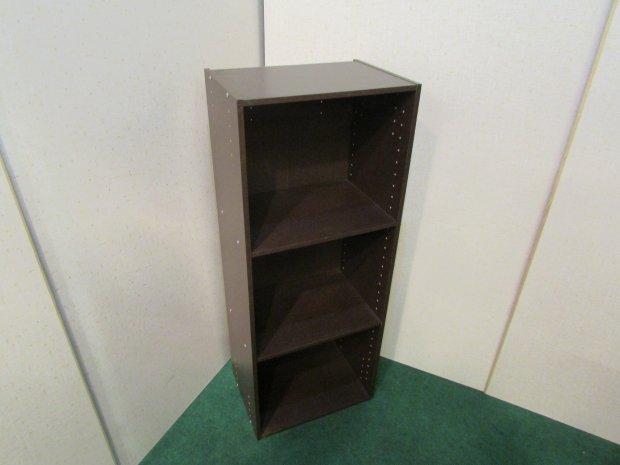 カラーボックス 3段収納 ブラウン(木目調)