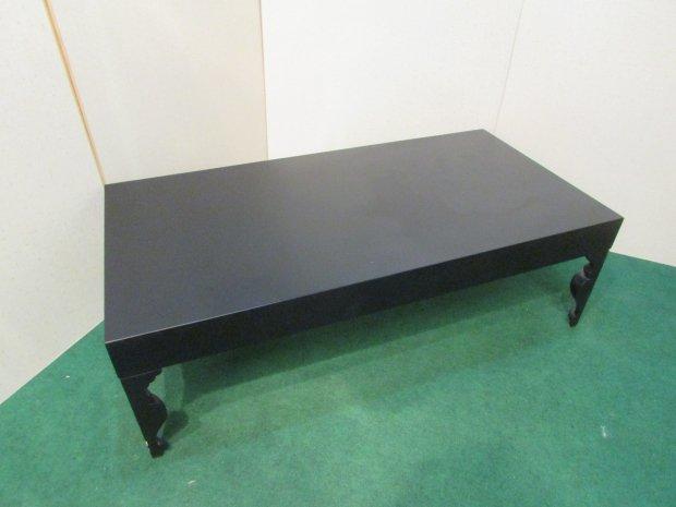 センターテーブル ブラック アンティーク調