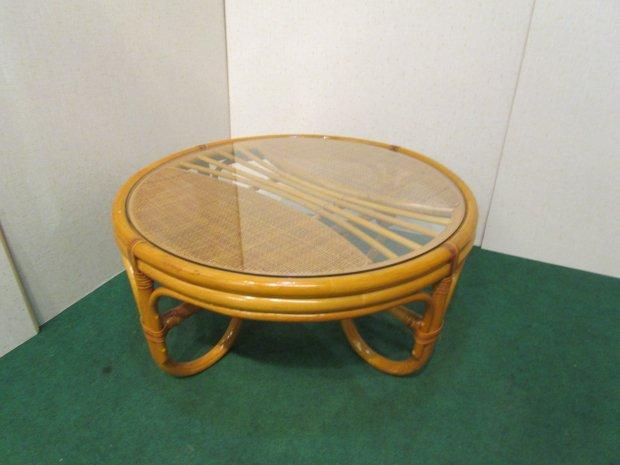 センターテーブル ラタン メープル
