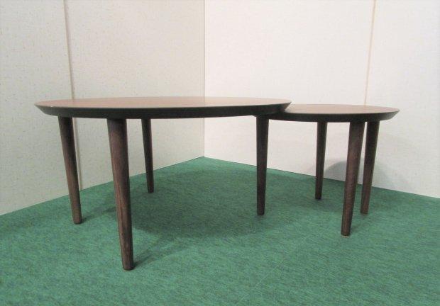 ローテーブル  円形ダブルタイプ  木目