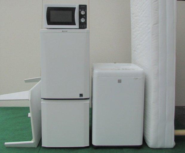 選べるセット 中古高年式家電家具 5点セット 冷蔵庫+洗濯機+電子レンジ+シングルベッド+テーブル(国産・海外メーカー混合)