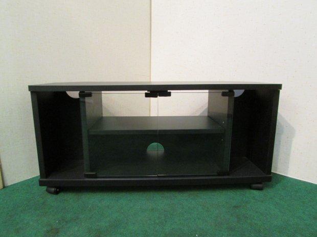 テレビボード ブラック(木目)