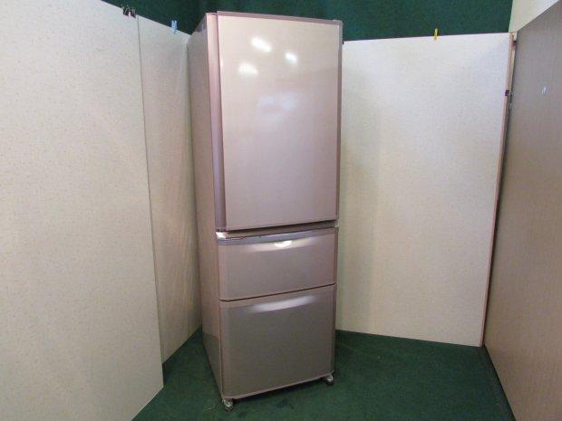 2013年製 三菱 ノンフロン冷凍冷蔵庫 MR-C37W-P(8460)