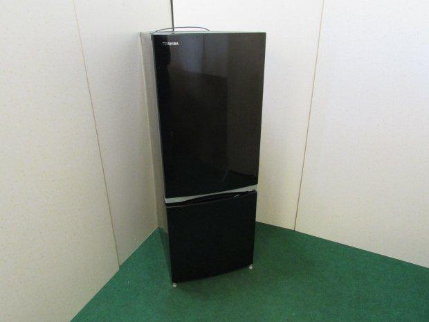 2018年製 東芝 ノンフロン冷凍冷蔵庫 GR-M15BS(K)(6250)