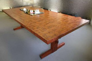 ブビンガ(特上杢)テーブル 8人掛け