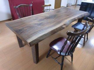 ウォールナット一枚板/大テーブル