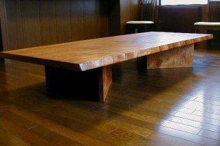 サペリマホガニー/ローテーブル