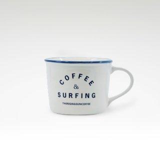TRSCオリジナルマグ『coffee & surfing』 ホワイト