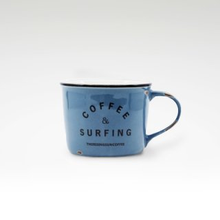 TRSCオリジナルマグ『coffee & surfing』 ブルー