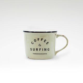 TRSCオリジナルマグ『coffee & surfing』 グレー