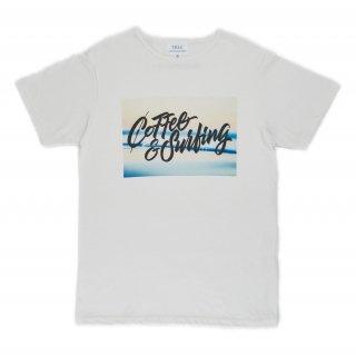 COFFEE&SURFING ORIGINAL SCRIPT TEE [BLUE]
