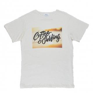 COFFEE&SURFING ORIGINAL SCRIPT TEE [YELLOW]