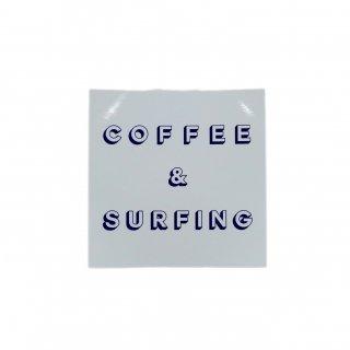 TRSCオリジナルステッカー『COFFEE&SURFING』