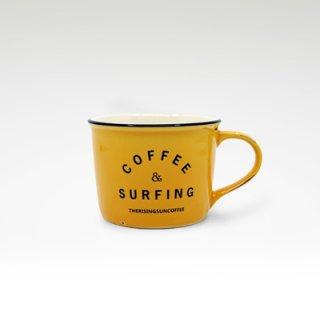 TRSCオリジナルマグ『coffee & surfing』 イエロー