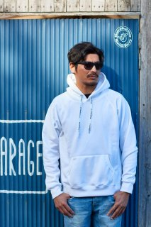 COFFEE & SURFING ORIGINAL AIRY TECH HOODIE [WHITE]