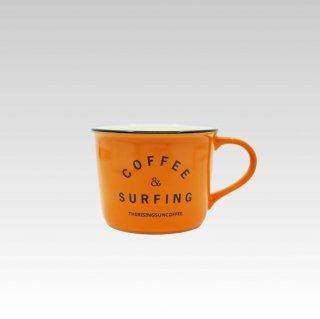 TRSCオリジナルマグ『coffee & surfing』オレンジ