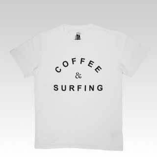 COFFEE & SURFING TEE [WHITE]