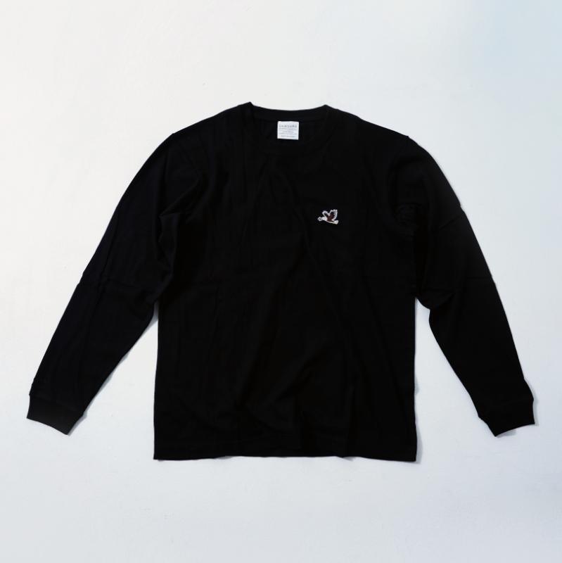 UNISEX Long Sleeve T Black  (5Animals)