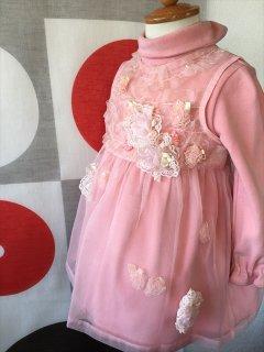 (G-80-3)む〜のんのんのピンクのドレス80cm