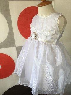 (G-80-5)白のドレス80cm