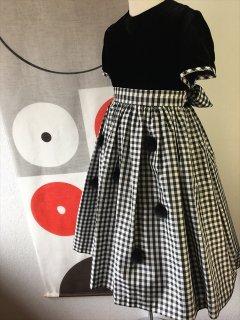 (G-100-7)ポンポネットのドレス100cm