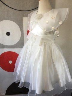 (G-110-7)大きな襟のドレス110cm