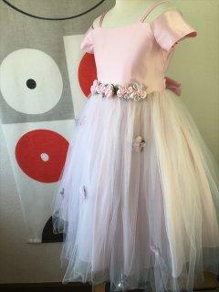 ◆送料お得プラン商品◆(G-130-10)ピンクのドレス130cm