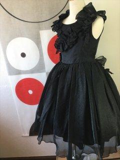 ◆送料お得プラン商品◆(G-130-12)ブラックドレス130cm
