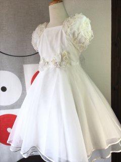 (G-130-22)む〜のんのんの白ドレス130cm